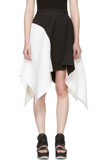Proenza Schouler - ブラック & ホワイト アシンメトリック スカート