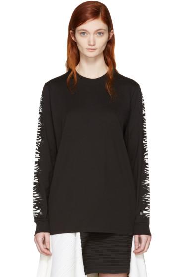 Proenza Schouler - Black Zebra Sleeves T-Shirt