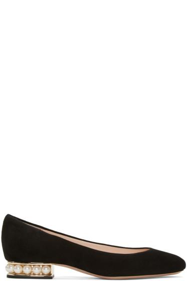 Nicholas Kirkwood - Black Suede Casatti Pearl Flats