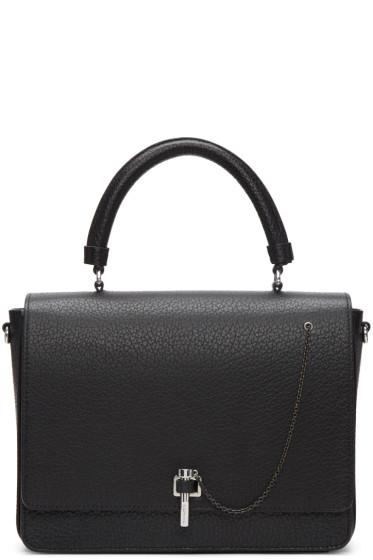 Carven - Black Leather Clasp Bag