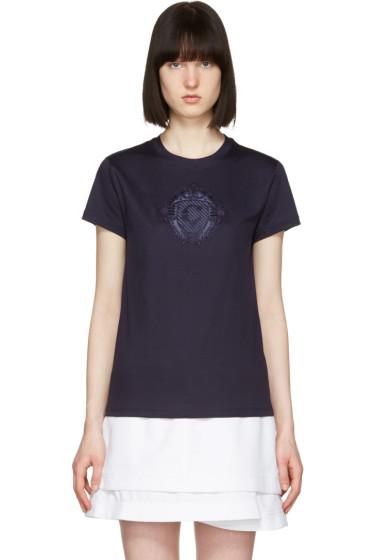 Carven - Navy Sheer Logo T-Shirt