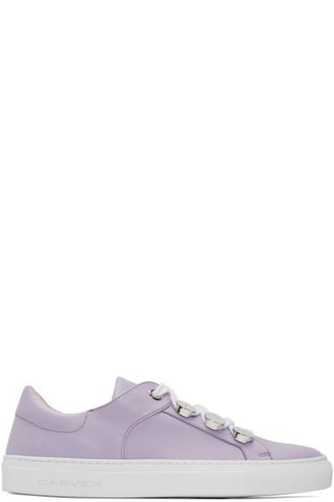 Carven - Purple Button Sneakers