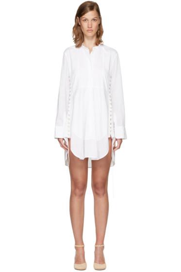 Chloé - White Cotton Button Dress