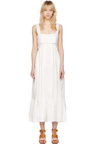 Chloé - White Bow Back Dress