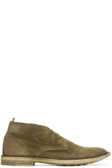 Officine Creative - Tan Suede Standard 5 Boots