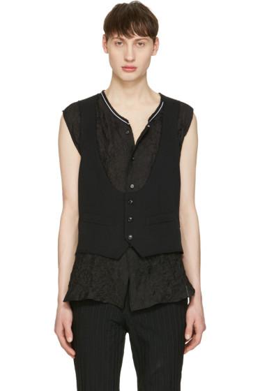 Comme des Garçons Homme Plus - Black Wool Vest