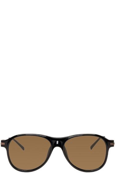 Dries Van Noten - Black Flat Top Sunglasses