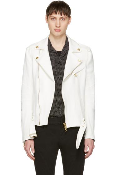 Pierre Balmain - Off-White Canvas Jacket