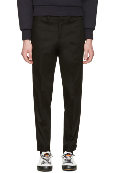 Neil Barrett - Black Snap Cuff Trousers