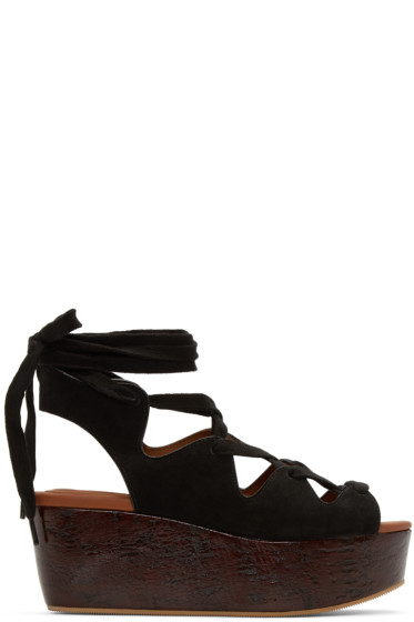 See by Chloé - Black Suede Liana Sandals