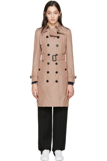 Burberry - Pink Sandringham Trench Coat