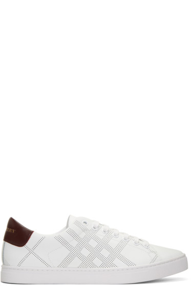 Burberry - White Leather Albert Sneakers