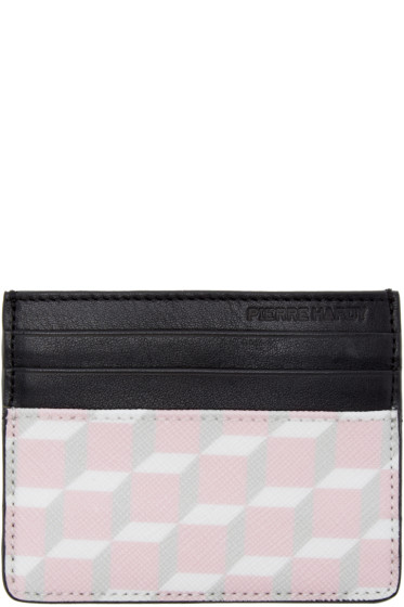 Pierre Hardy - SSENSE Exclusive Pink Cube Card Holder