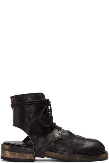 Ann Demeulemeester - Black Cut-Out Boots