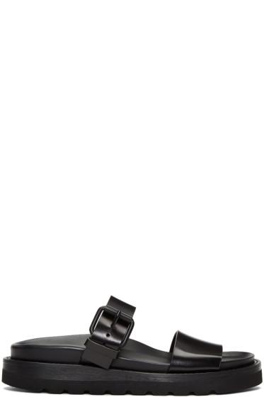 Ann Demeulemeester - ブラック 2 ストラップ サンダル