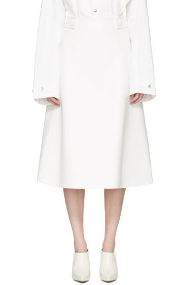Marni - ホワイト フェイクレザー スカート