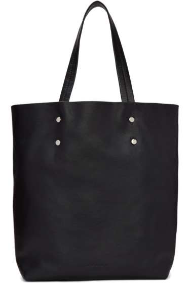 Marni - Black Leather Tote Bag