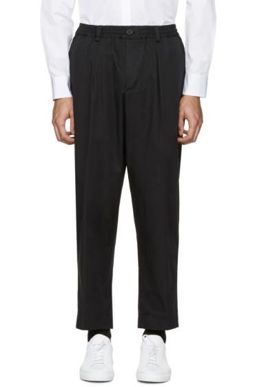 Marni - Black Cotton Wide Trousers