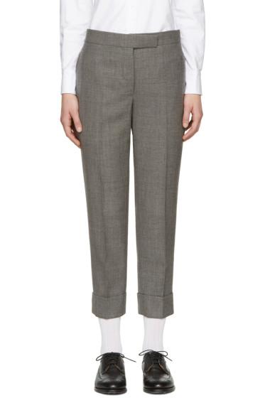 Thom Browne - Grey Classic Backstrap Trousers