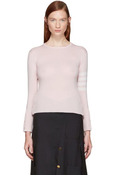 Thom Browne - Pink Classic Crewneck Short Pullover