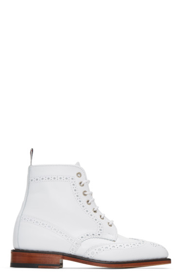 Thom Browne - White Classic Wingtip Boots