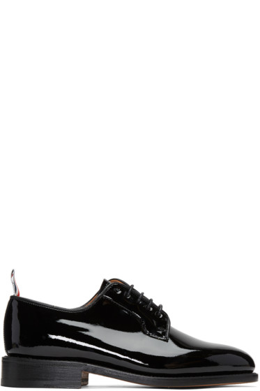 Thom Browne - Black Patent Leather Derbys