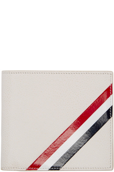 Thom Browne - Off-White Diagonal Stripe Wallet