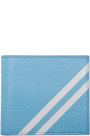 Thom Browne - Blue Diagonal Stripe Wallet