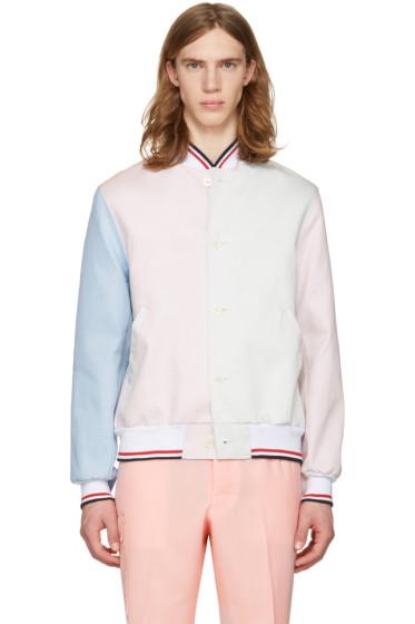 Thom Browne - Tricolor Funmix Varsity Jacket