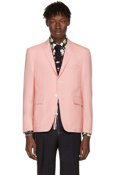Thom Browne - Pink Constructed Square Pocket Blazer