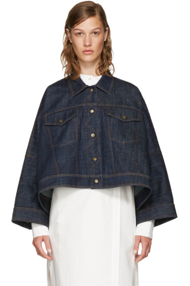 Kenzo - Navy Denim Cape Jacket