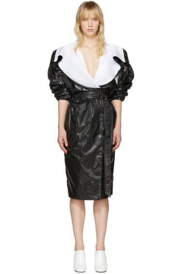 Kenzo - ブラック パラシュート トレンチ コート