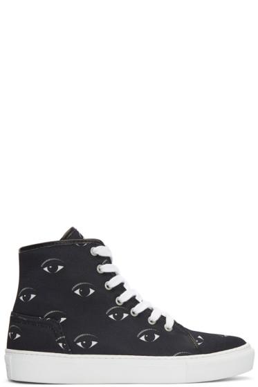 Kenzo - Black Eyes High-Top Sneakers
