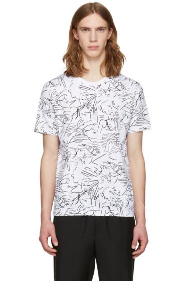 Kenzo - White Sketches Jersey