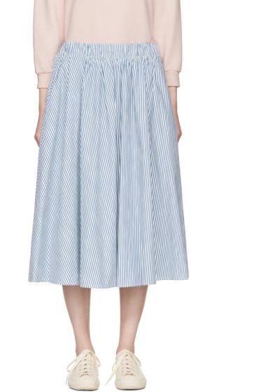 Maison Kitsuné - Blue Striped Estelle Skirt