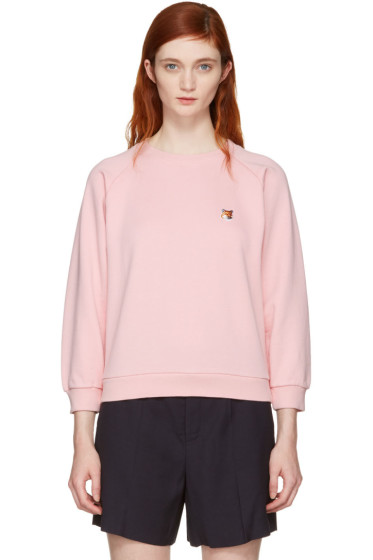 Maison Kitsuné - Pink Fox Head Patch Sweatshirt