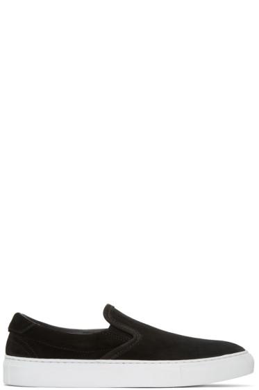 Diemme - Black Suede Garda Slip-On Sneakers