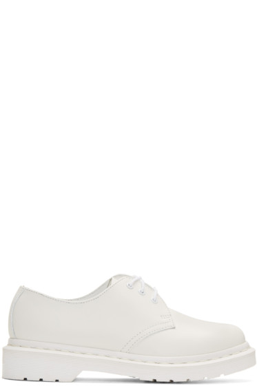 Dr. Martens - White Three-Eye 1461 Gibson Derbys