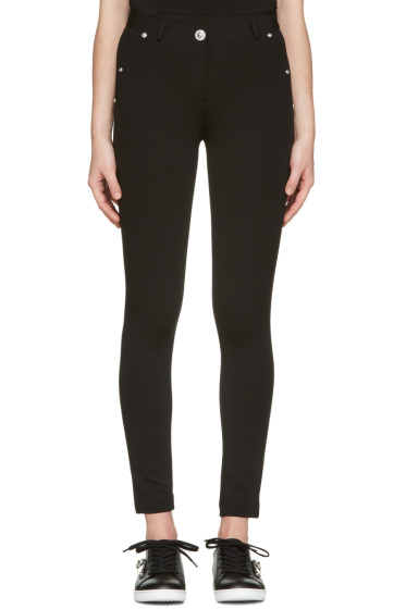 Versus - Black Skinny High-Rise Trousers