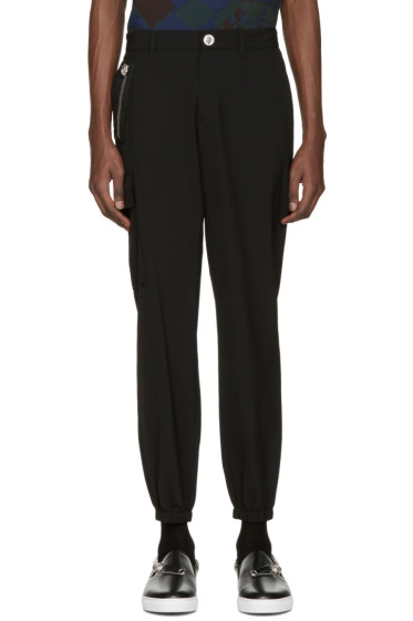 Versus - Black Lion Zip Trousers