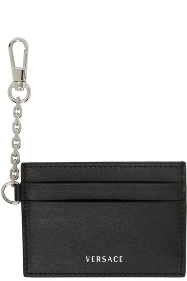 Versace - Black Clip-On Chain Card Holder