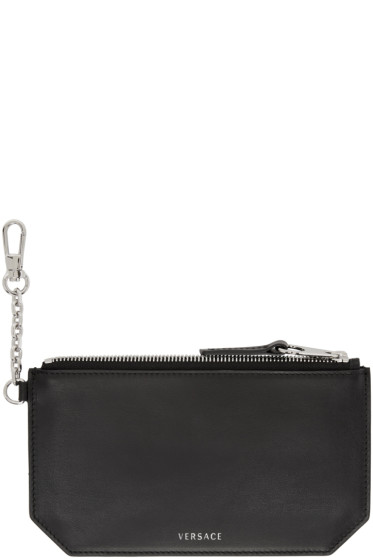 Versace - Black Clip-On Chain Coin Pouch