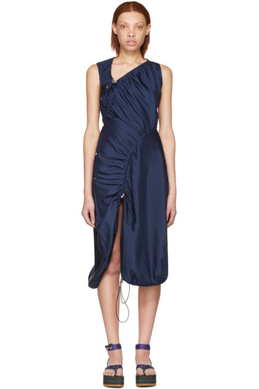 Versace - ネイビー パラシュート ドレス