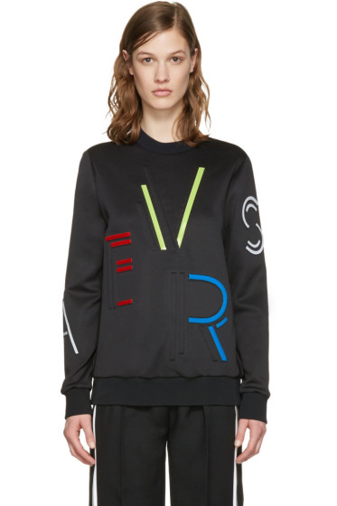 Versace - Black Logo Letters Pullover