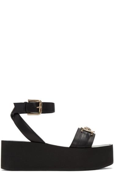 Versace - Black Medusa Flatform Sandals