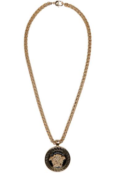 Versace - Gold & Black Medusa Chain Necklace