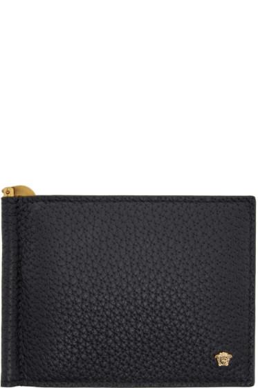 Versace - Black Money Clip Medusa Wallet