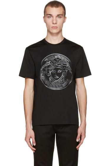 Versace - Black Studded Medusa T-Shirt