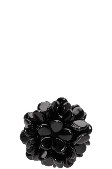 Simone Rocha - Black Beaded Ball Earring