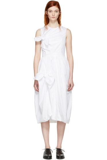 Simone Rocha - White Two Knots Dress